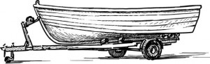 Boat on Trailer Drawing